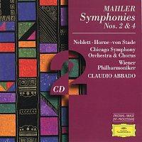 Wiener Philharmoniker, Chicago Symphony Orchestra, Claudio Abbado – Mahler: Symphonies Nos.2 & 4 [2 CD's] – CD